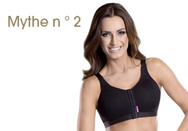 Mythe n ° 2: Il est recommandé de ne pas porter de soutien-gorge pendant un certain temps après la chirurgie.